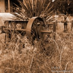 Front yard farm equipment