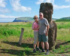 One of the few places where you can get up close to a Moai.
