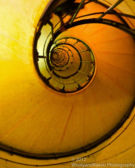 The underside of the stairwell that takes you to the top of the Arc de Triomphe.