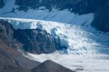 Another glacier flowing from the Columbia Icefield.
