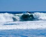 Sometimes even surfboards take flight!