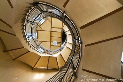 Stairway to the top of Sagrat Cor in Barcelona.