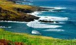 Waves pound the Vinapu coast