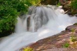 Water roars downhill in Glacier Natl. Park.