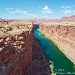 Marble Canyon comes before the Grand Canyon.