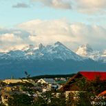 The spectacular mountains framing Ushuaia.