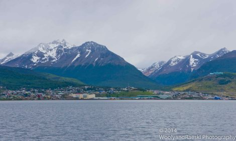 Looking at Ushuaia from the Beagle Channel.